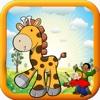 Kids Game Giraffe Coloring Version