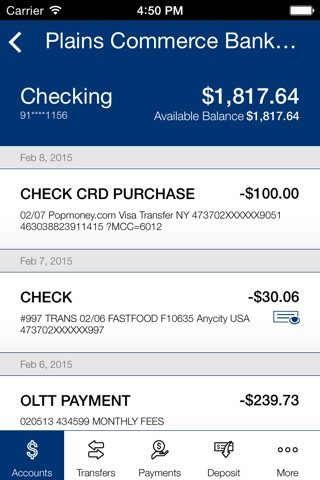 Plains Commerce Bank Mobile screenshot 4