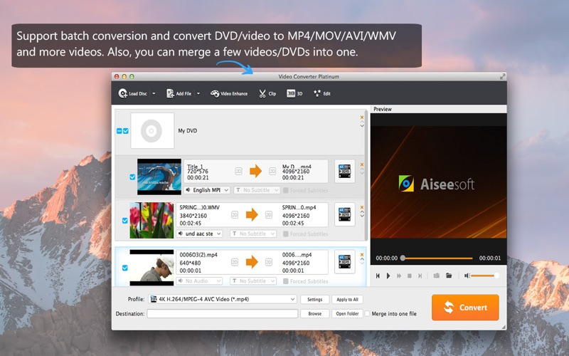Video Converter Platinum - Convert MP4/MP3/DVD Screenshots