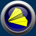 Origami Paper Airplane Folds In 3D icon