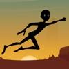 The Black Stickman Jumping Adventure - cool speed racing adventure game adventure