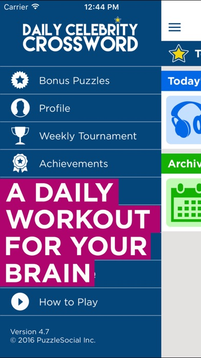 Screenshots of Daily Celebrity Crossword - Free Crossword Puzzles for iPhone