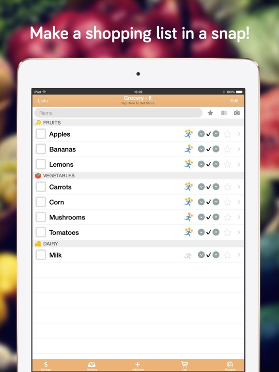 Shopper  Grocery List Shopping List And Recipes On The App Store