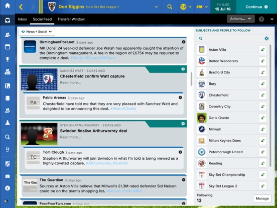 Football Manager Touch 2017 Screenshots