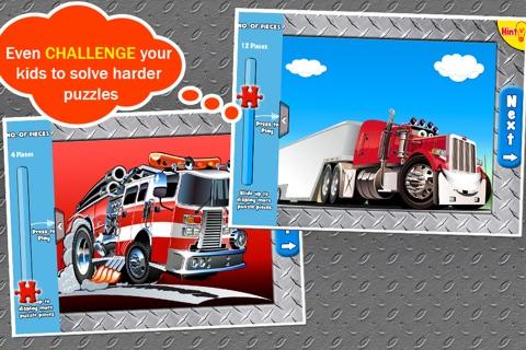 Trucks Jigsaw Puzzles: Kids Trucks Cartoon Puzzles screenshot 4