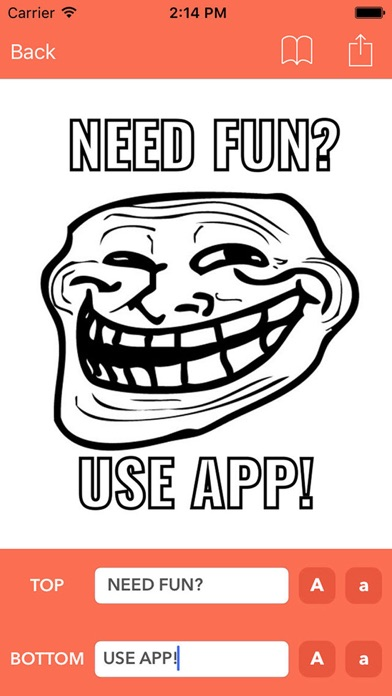 Screenshot of Crea meme - App per fare meme / Memes divertenti1