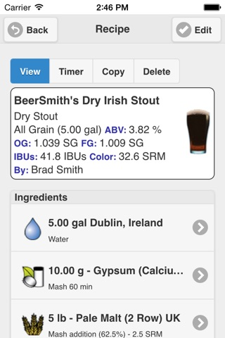 BeerSmith Mobile Home Brewing screenshot 4