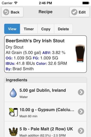 BeerSmith Mobile Home Brewing screenshot 4
