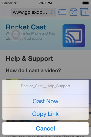 Rocket Video Cast | Chromecast screenshot 1