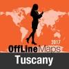 Toscane Déconnecté carte et guide de voyage