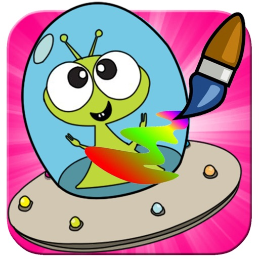 My Little Alien Coloring Book Fun Game For Kids iOS App