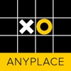 Anyplace Tic Tac Toe. Noughts and crosses game. anyplace control 3 6