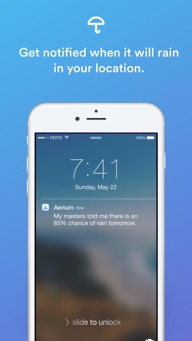 Aerium — Your weather bot. Screenshot