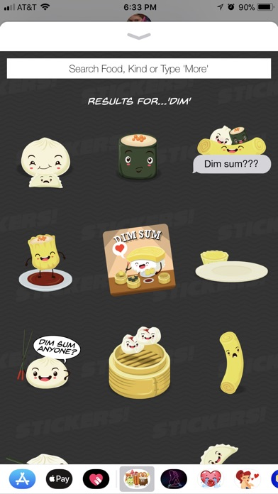 Screenshot of 200 Animated Food Stickers App