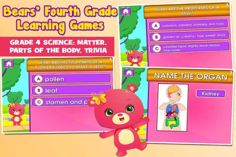 Bears 4th Grade Games School Edition screenshot 4