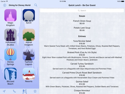 Dining for Disney World screenshot 1