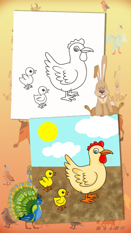 Color Farm Animals Coloring Book