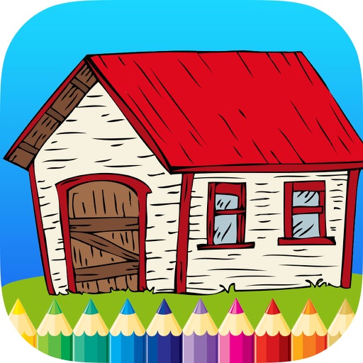 Coloring Book House: Learn to draw & paint for Kid iOS App