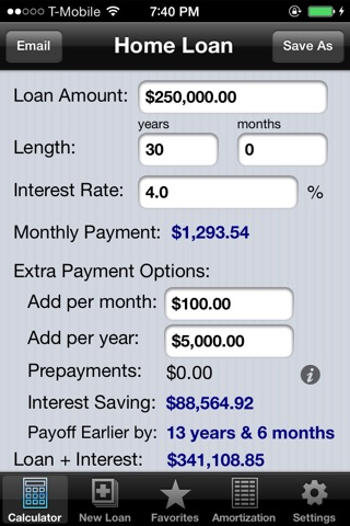 Loan Calculator Pro screenshot 1