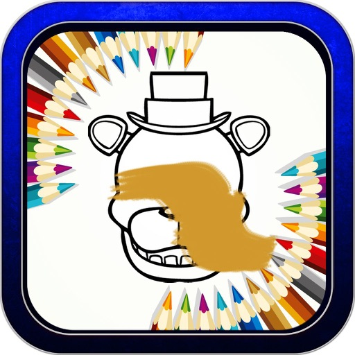 """Color Book Game for """"five nights at freddy's fnaf"""" iOS App"""