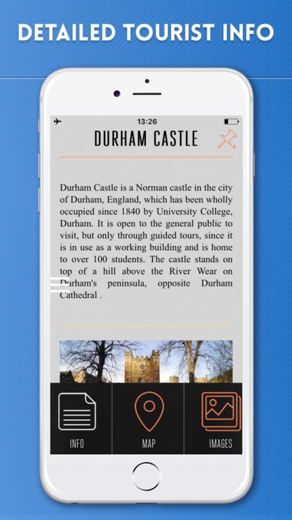 Durham Travel Guide With Offline City Street Map By Etips Ltd