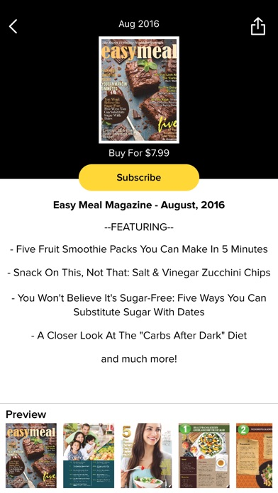 Easy Meal Magazine review screenshots
