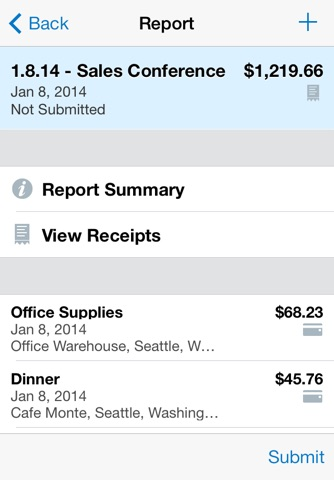 SAP Concur screenshot 2