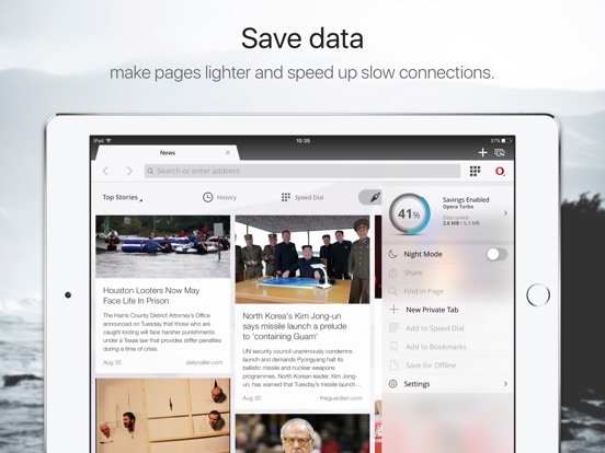 Opera Mini web browser Screenshots