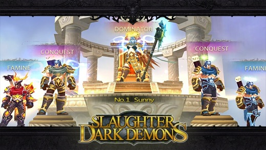 Slaughter Dark Demons (Pure epic dark theme game) Screenshot