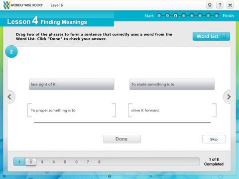 Wordly Wise 3000® Online screenshot 3