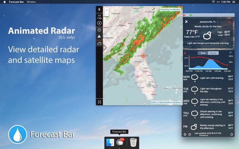 Forecast Bar - Weather + Radar Screenshots