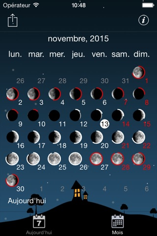 Moon phases calendar and sky screenshot 4
