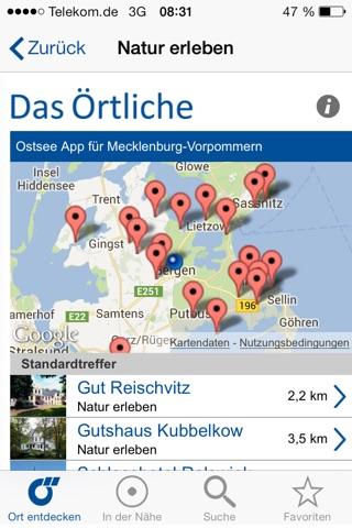 Ostsee-App von Das Örtliche – Entdecke die Ostseeküste von Mecklenburg-Vorpommern mit der kostenlosen Reiseführer App. screenshot 4