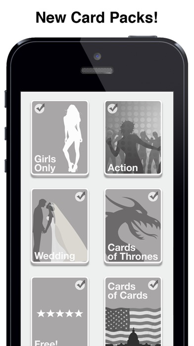 Screenshots of Black Cards for iPhone