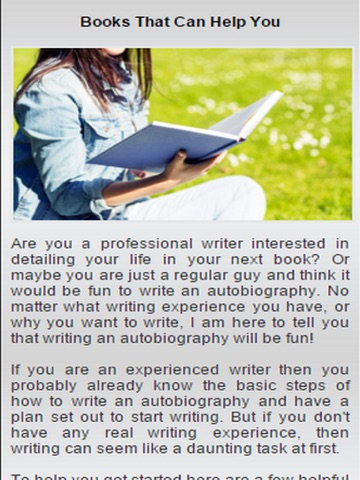 steps in writing an autobiography
