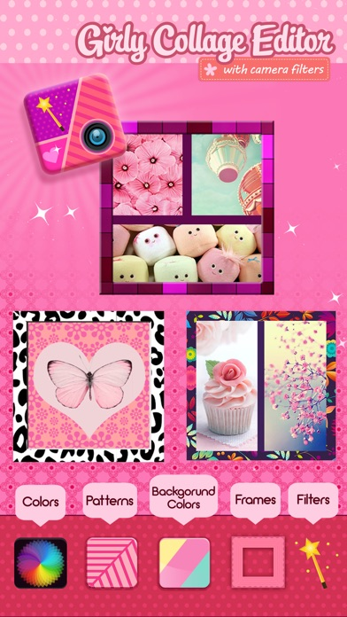 Girly Collage Photo Editor Scrapbook Maker For Stitching Pics