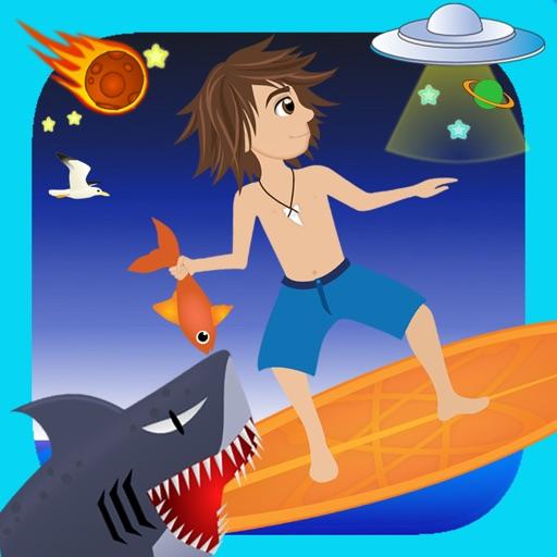 Space Surf : Shark Attack iOS App