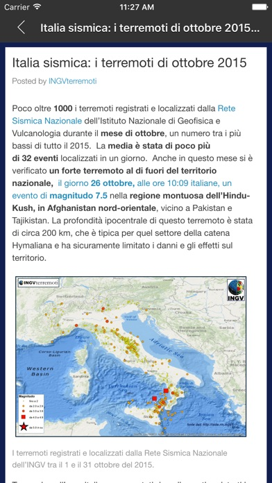 Screenshot of INGVterremoti4