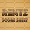 Rentz - Score sheet