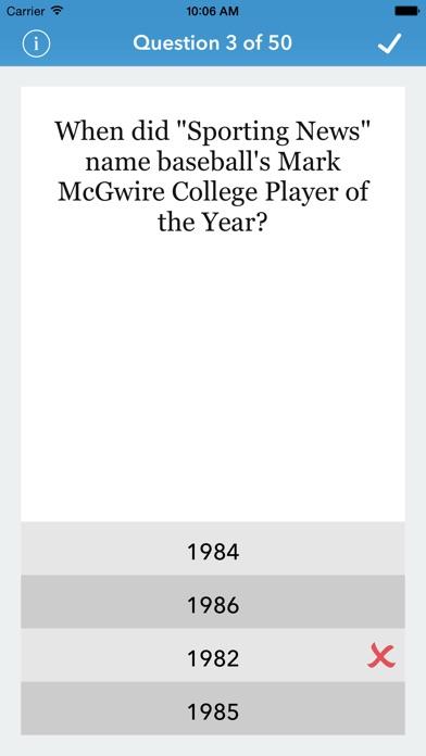 Baseball Trivia for The Factual Intellectual® Screenshot