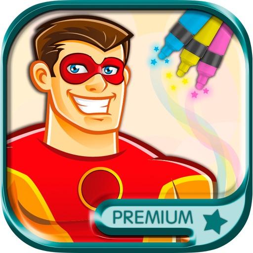 Superhelden Malvorlagen für Kinder - Premium Bei Meleroland SL