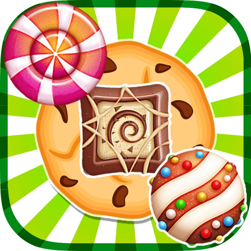 Colorful Candies Sweet Cookie Mania Match 3 Games iOS App