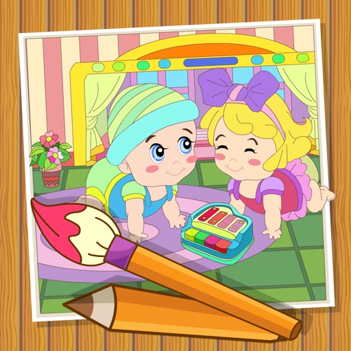 Coloringbook baby - Color, design and play with your own coloringbook baby iOS App
