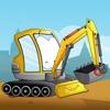 Землеройно-транспортные машины - Бесплатная игра-головоломка для мальчиков