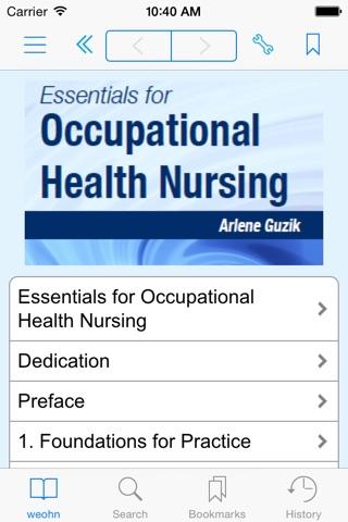 Essentials for Occupational Health Nursing screenshot 1