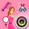 Girl Sticker Camera - photo collage editor - Make Girls ' Photo Lovely and Funny