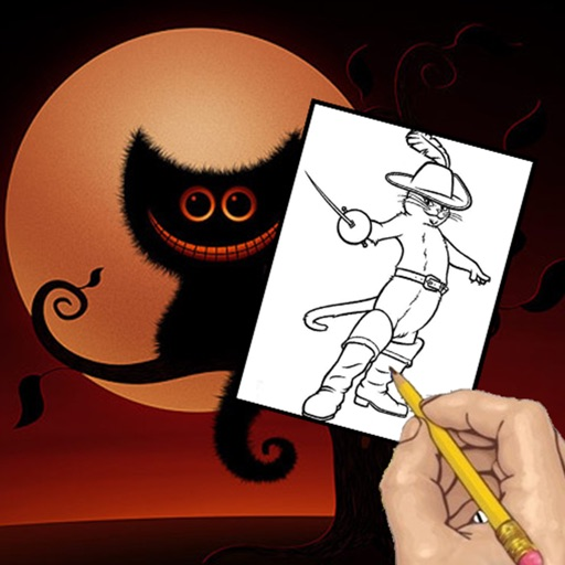 Paint Kids Puss in Boots Coloring Version iOS App
