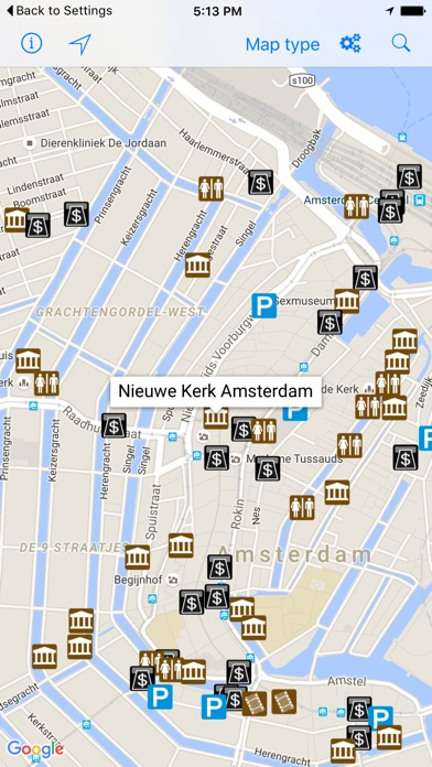 Leisuremap Netherlands Camping Golf Swimming Car parks and