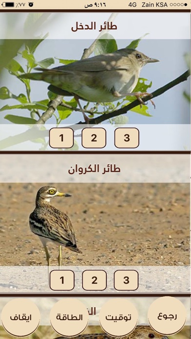 اصوات الطيور - السنيدي للوازم الرحلاتلقطة شاشة2