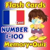 Flashcards and Games Of Number 1 - 100 France